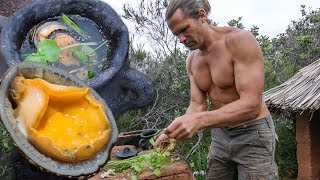 Download Primitive Harvest and Cooking Soup - Mollusks and Wild Plants Video