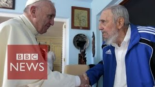 Download Cuba: Pope Francis meets Fidel Castro after Havana Mass - BBC News Video
