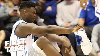 Download Zion's shoe blowout and injury 'couldn't be worse' for Nike - Max Kellerman | First Take Video