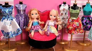 Download Mall ! Elsa and Anna toddlers go shopping Video