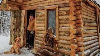Download Off Grid Log Cabin: Alone with my Dog in an Ice Storm Video