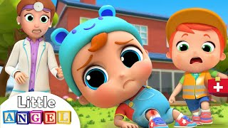Download Ouch, I Got A Boo Boo! | Little Angel Safety Kids Songs with Nursery Rhymes Video
