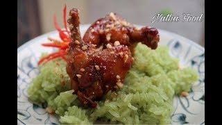 Download Cánh gà chiên nước mắm và xôi lá dứa ngon và đẹp || Natha Food Video
