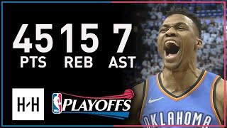 Download Russell Westbrook UNREAL Full Game 5 Highlights vs Jazz 2018 NBA Playoffs - 45 Pts, EPIC COMEBACK Video