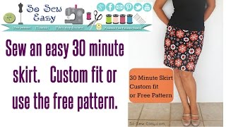 Download 30 minute skirt - sew an easy stretch skirt in minutes Video