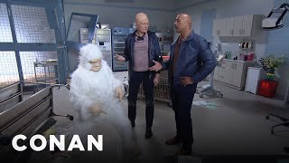 Download Conan Becomes Dwayne Johnson's ″Rampage″ Stunt Double Video