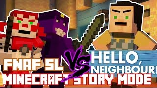 Download FNAF Sister Location vs HELLO NEIGHBOR ! Minecraft Story Mode (Custom Theme) Video