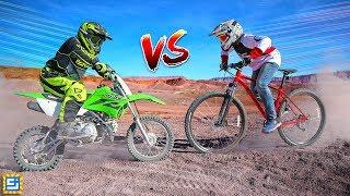 Download Epic Dirt Bike vs Mountain Bike Adventure! Video