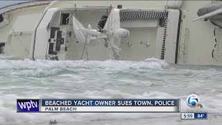 Download Beached yacht owner sues town, police Video