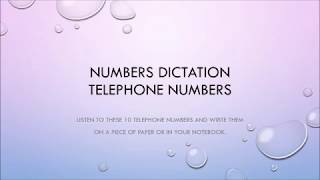 Download Dictation Phone Numbers Video