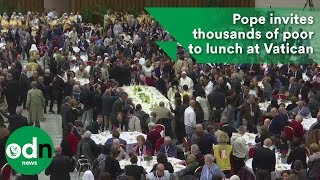 Download Pope invites thousands of poor to lunch at Vatican Video
