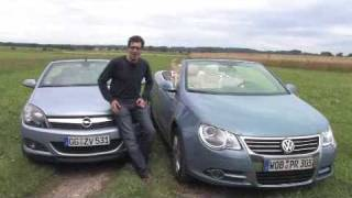 Download Bezahlbare Cabrios: VW Eos gegen Opel Astra Video