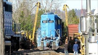 Download Hulcher Services Rescues Train Locomotive | Jason Asselin Video