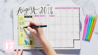 Download August 2018 Bullet Journal Setup | Plan With Me Video