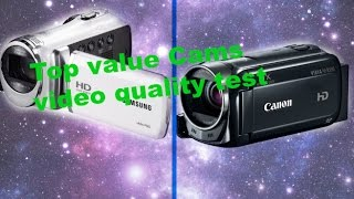 Download Canon HF R500 vs Samsung HMX F90 Camcorder video quality review Video