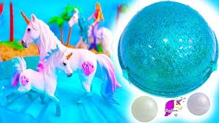 Download Sea Unicorn Family ! Schleich Horse Pearl Surprise Horse Set Video