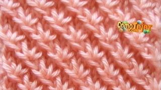 Download Cómo Tejer Punto FANTASÍA de ESTRELLAS - Knitting Stitches - 2 agujas (3) Video