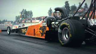 Download Topfuel dragster race slow motion (topmethanol backfire, exhaust flame) Video