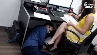 Download Foot worship in office... Video