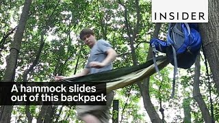 Download A hammock slides right out of this backpack Video