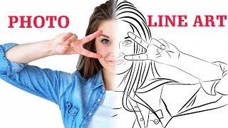 Download Convert Photo to Line Portrait Vector - Tutorial - Inkscape Video