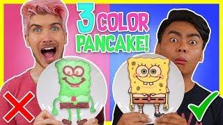 Download 3 COLOR PANCAKE ART CHALLENGE! w/ Guava Juice Video