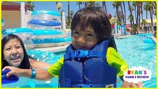 Download Ryan Rides Fun Water Slides at Family Theme Water Parks!!! Video