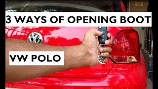 Download 3 Different Ways of Opening The Boot In Volkswagen Polo Video