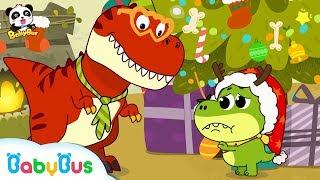 Download Baby Dinosaur Wanna See Santa Claus | OPENING PRESENTS! 🎁 | Christmas Songs | Christmas | BabyBus Video