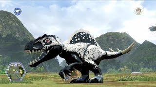 Download LEGO Jurassic World - Customize | Create Dinosaur Indominus Rex | Free Roam Gameplay [HD] Video