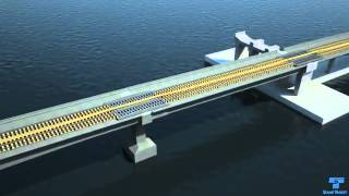 Download East Link Light Rail I-90 Track Bridge System Animation Video