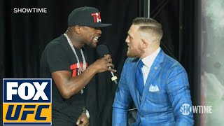 Download Floyd Mayweather fires back at Conor McGregor 'The fans can't fight for you' | TOR | UFC ON FOX Video