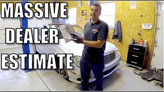 Download I brought a 400k mile E55 AMG to the dealer,here's how much they want to fix it. Video