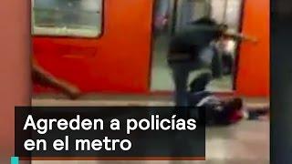 Download Vándalos agreden a policías en el metro Tepito - Las Noticias con Danielle Video