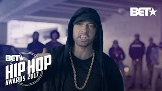 Download Eminem Rips Donald Trump In BET Hip Hop Awards Freestyle Cypher Video