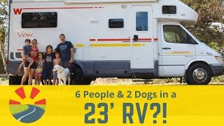 Download How A Family Of 6 (and 2 big dogs) live in a 23' Motorhome! Video