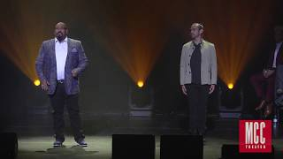 Download James Monroe Iglehart performs ″Satisfied″ with Javier Muñoz and Lexi Lawson from HAMILTON Video