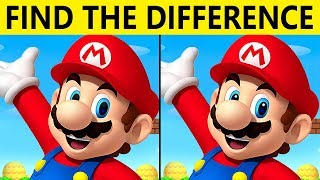 Download Only TRUE GENIUS can FIND THE DIFFERENCE! | 100% FAIL | MARIO PICTURE PUZZLE Video