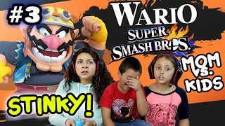 Download MOM vs. KIDS - Super Smash Bros 4 Wii U - SO STINKY! w/ Wario Foe Battle (Part 3) FACE CAM Video