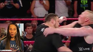 Download WWE Raw 6/12/17 Samoa Joe confronts Brock Lesner Video