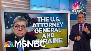 Download New push for Barr to Recuse Himself From Impeachment Inquiry | Velshi & Ruhle | MSNBC Video
