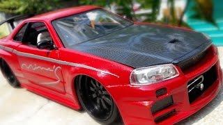 Download Amazing Transformation Nissan Skyline GTR R34 Fast and Furious Paul Walker (water slide decal) Video