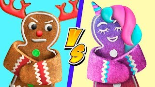 Download 9 Fun Christmas Treat Ideas / Unicorn Christmas Candies vs Reindeer Christmas Candies Challenge! Video