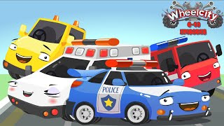 Download Wheelcity - Ambulance LILA Police Car Flash Catching Cars New Kids Video - Episodes #6-10 Video