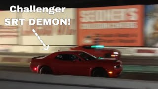 Download New OWNER Takes 18' Dodge Demon to Drag Strip!!! Video
