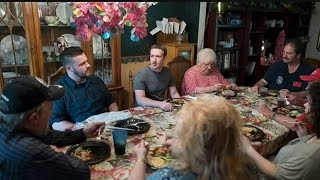 Download Facebook CEO Mark Zuckerberg enjoys family dinner in Newton Falls Video