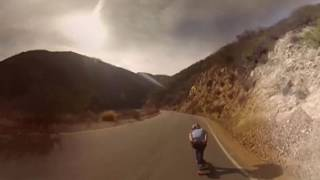 Download Speed through a canyon on a longboard in VR Video