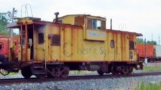 Download Chessie Caboose Waits For NS Train To Go By Video