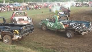 Download Leamington Demolition Derby 2016 - Truck Class Video