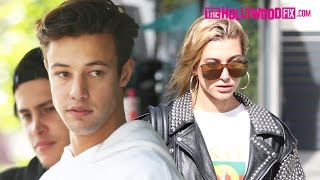 Download Cameron Dallas & Hailey Baldwin Leave Their Lunch Date Together At Urth Caffe 4.24.17 Video